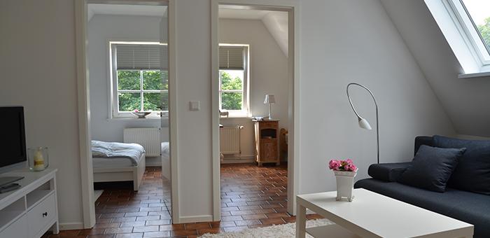 Wohnbereich und zwei Schlafzimmer